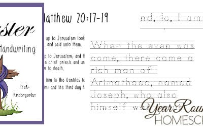 Easter Scripture Handwriting Pack for PreK-Kindergarten