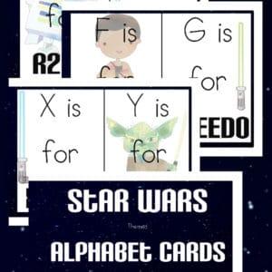 star wars alphabet cards, star wars alphabet, star wars abcs, star wars