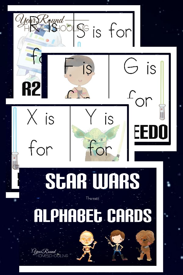star wars alphabet cards, star wars alphabet, star wars abcs, star wars