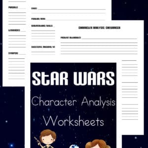 star wars character analysis, star wars character sketch, star wars character writing activity, star wars