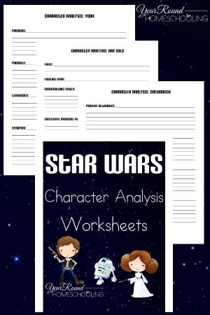 Star Wars Character Analysis Worksheets