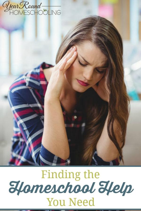finding homeschool help, find homeschool help, homeschool help