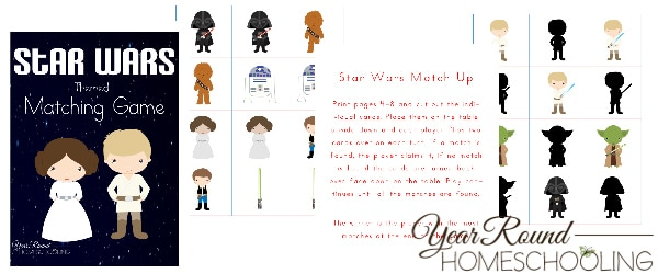 star wars matching game, star wars matching, star wars, may the 4 be with you day, star wars day
