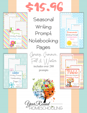 Seasonal Writing Prompt Notebooking Pages