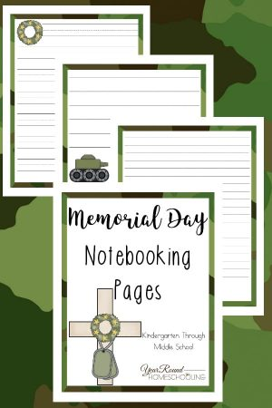 Memorial Day Notebooking Pages