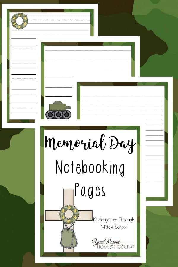 memorial day notebooking pages, memorial day notebooking, memorial day