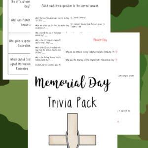 memorial day trivia, memorial day trivia pack, memorial day