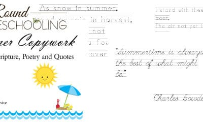 Summer Copywork {Featuring Scriptures, Poetry and Quotes}