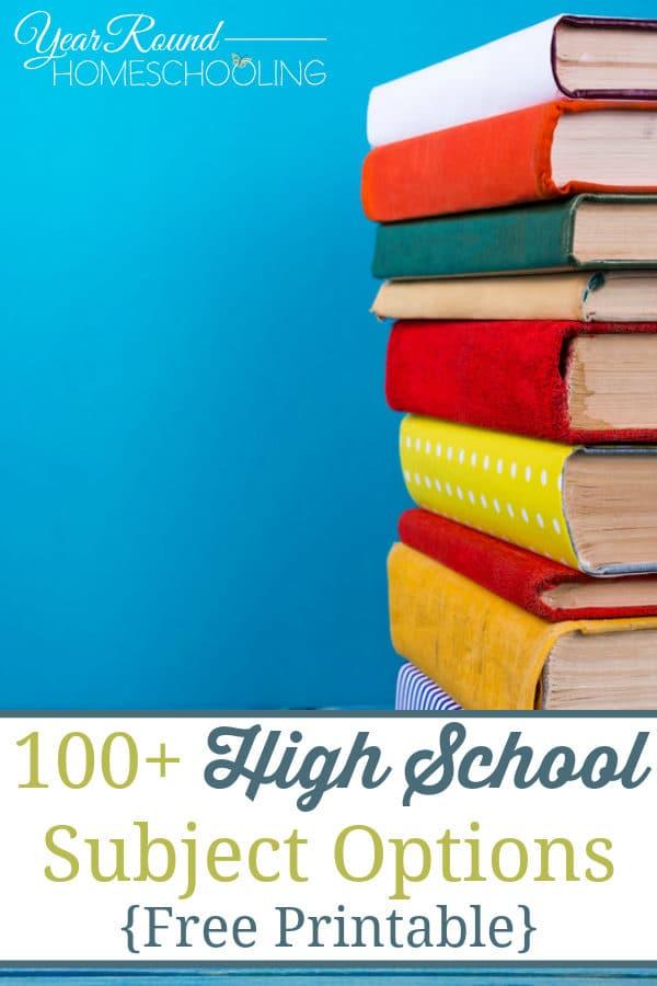high school subject options, high school subjects and electives, high school homeschool options, high school homeschooling options, homeschool high school, homeschooling high school