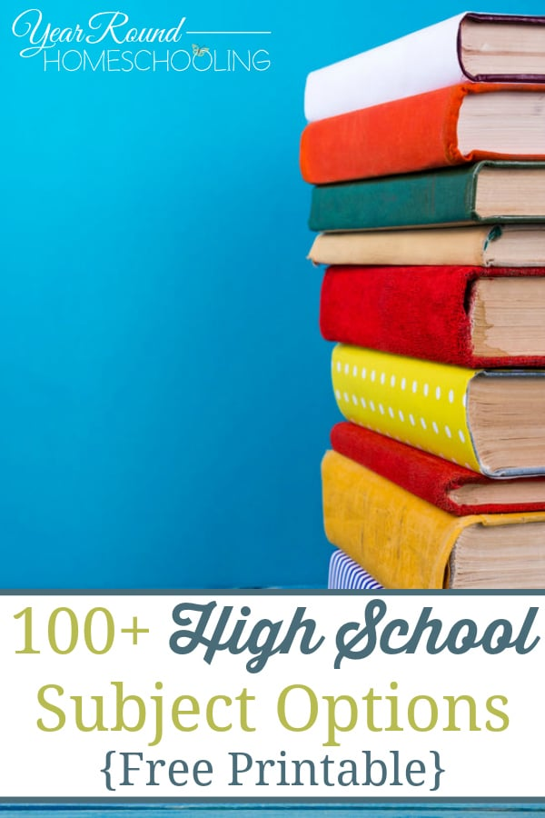 high school subject options, high school subjects and electives, high school homeschool options, high school homeschooling options, homeschool high school, homeschooling high school