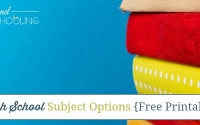 100+ High School Subject Options