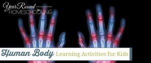 human body learning activities, human body activities, human body