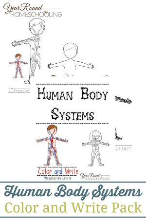 Human Body Systems Color and Write