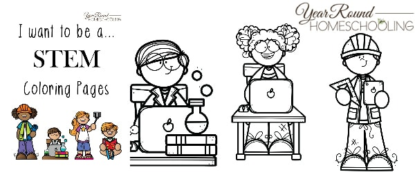 I Want to BeSTEM Coloring Pages Year Round Homeschooling