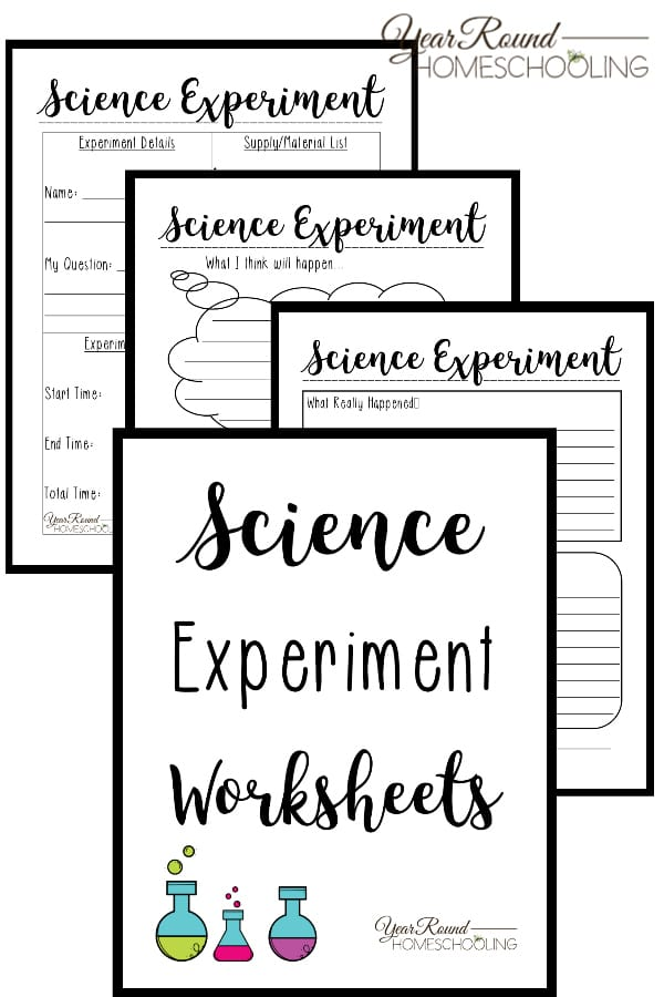 science experiment worksheets