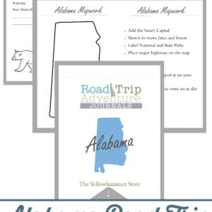 alabama road trip, alabama road trip journal, alabama road trip adventure journal
