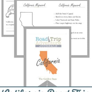 california road trip, california road trip journal, california road trip adventure journal