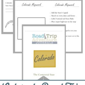 colorado road trip, colorado road trip journal, colorado road trip adventure journal