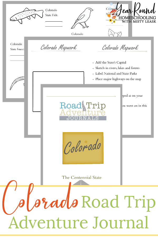 colorado road trip journal, road trip journal colorado