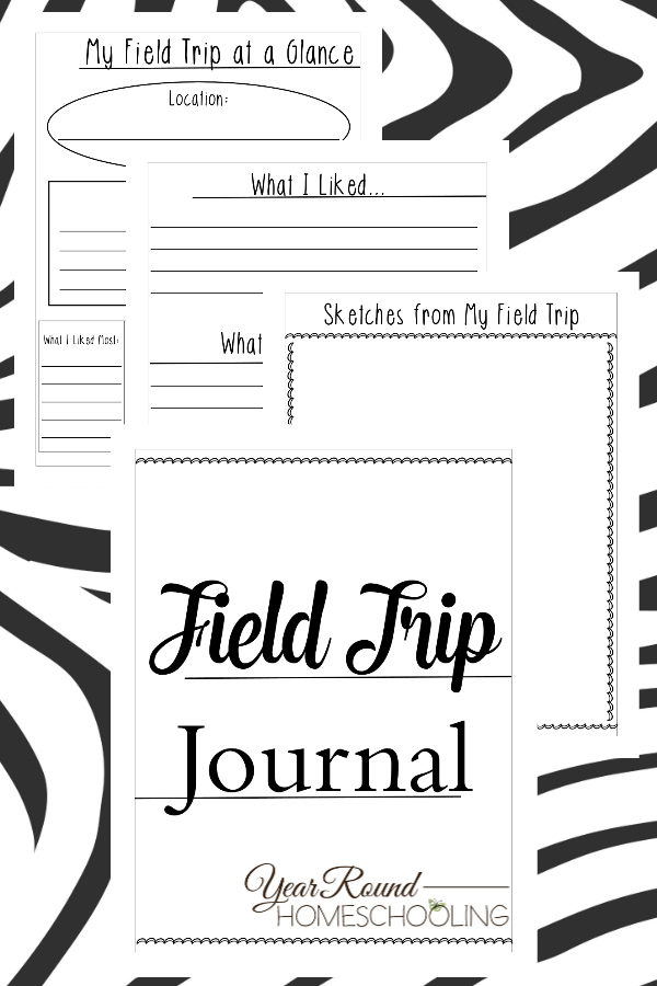 field trip journal, field trip, homeschool field trips, homeschool field trip