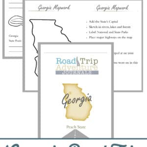 georgia road trip, georgia road trip journal, georgia road trip adventure journal