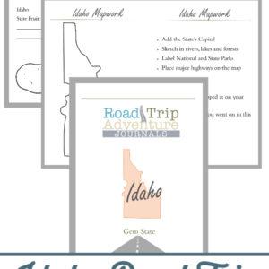 idaho road trip, idaho road trip journal, idaho road trip adventure journal