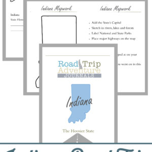 indiana road trip, indiana road trip journal, indiana road trip adventure journal