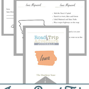 iowa road trip, iowa road trip journal, iowa road trip adventure journal