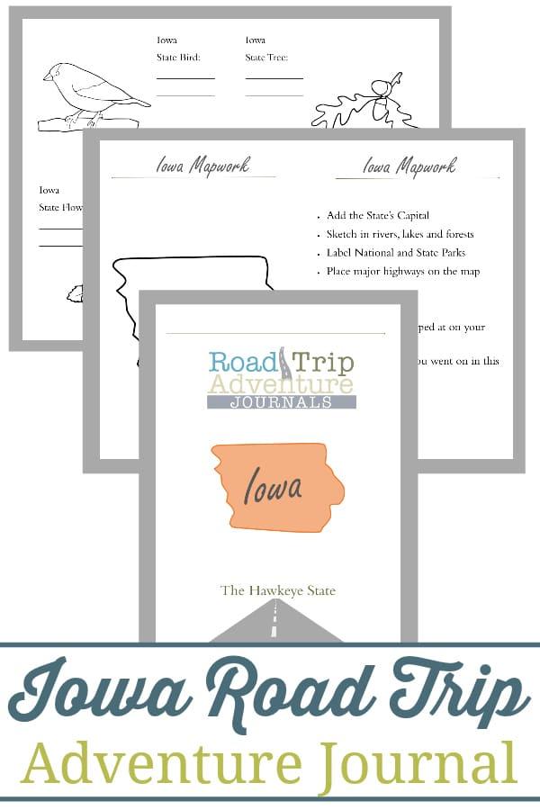 iowa road trip, iowa road trip journal, iowa road trip adventure journal
