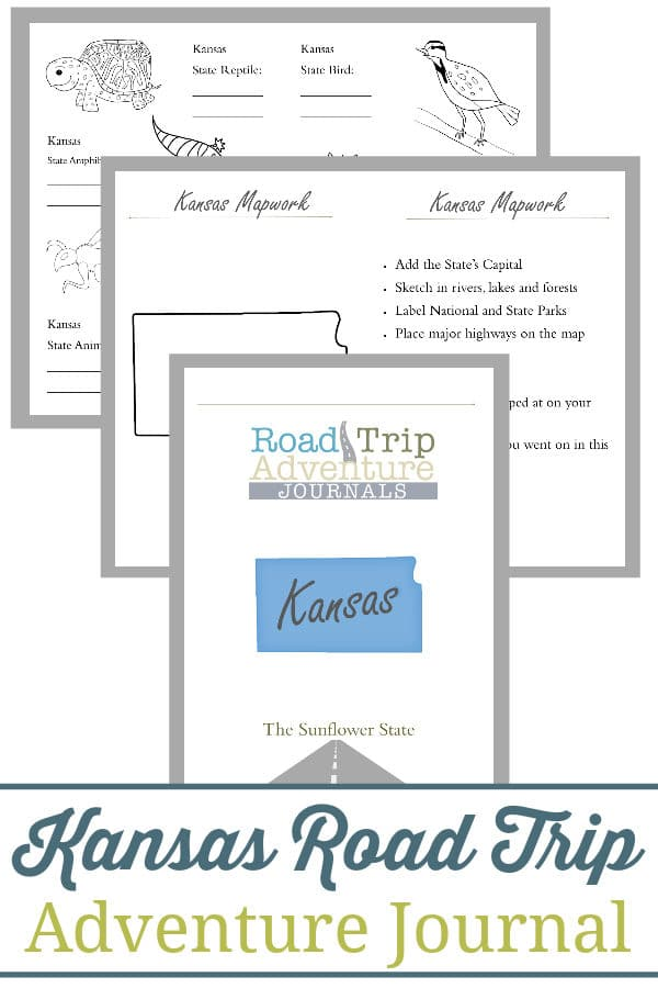 kansas road trip, kansas road trip journal, kansas road trip adventure journal