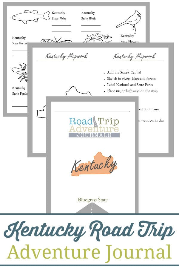 kentucky road trip, kentucky road trip journal, kentucky road trip adventure journal