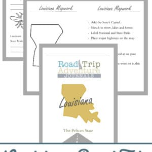 louisiana road trip, louisiana road trip journal, louisiana road trip adventure journal