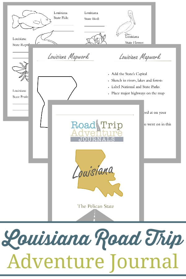 louisiana road trip, louisiana road trip journal, louisiana road trip adventure journal
