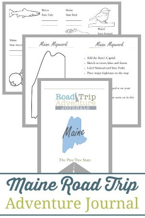 Maine Road Trip Adventure Journal