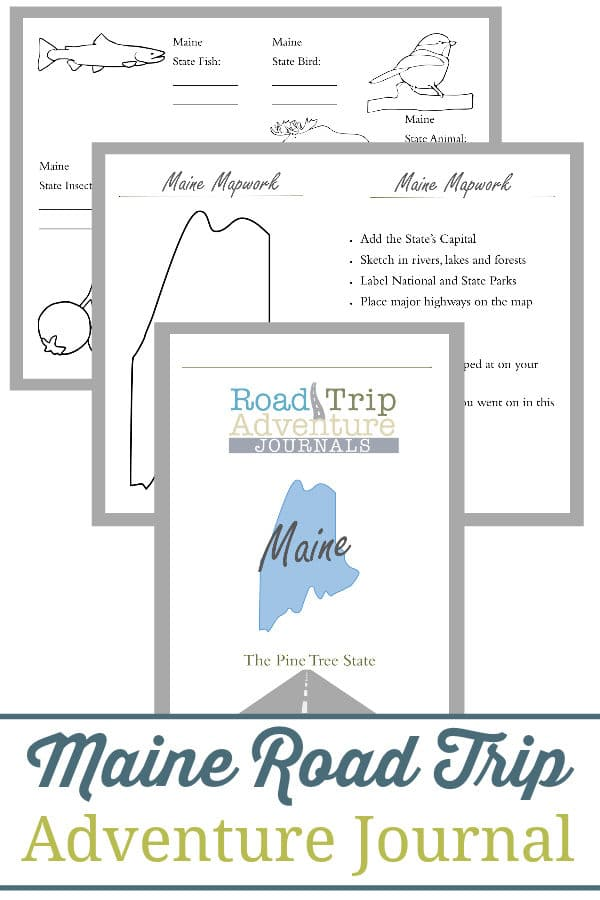 maine road trip, maine road trip journal, maine road trip adventure journal