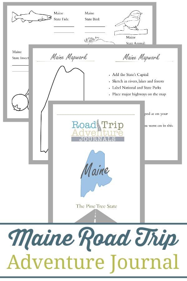 maine road trip, maine road trip journal, maine road trip adventure journal