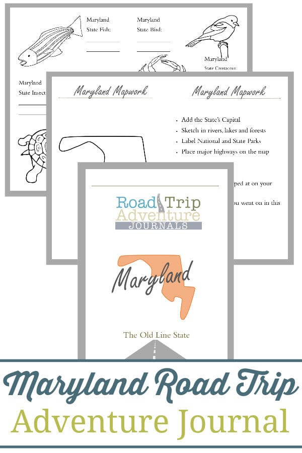 maryland road trip, maryland road trip journal, maryland road trip adventure journal