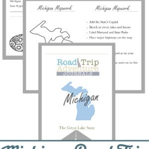 michigan road trip, michigan road trip journal, michigan road trip adventure journal