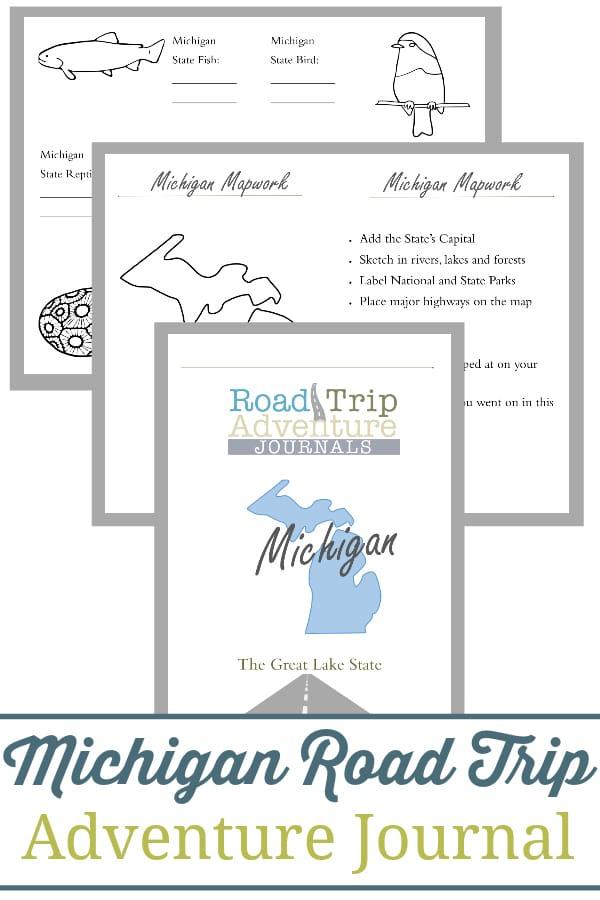 michigan road trip, michigan road trip journal, michigan road trip adventure journal