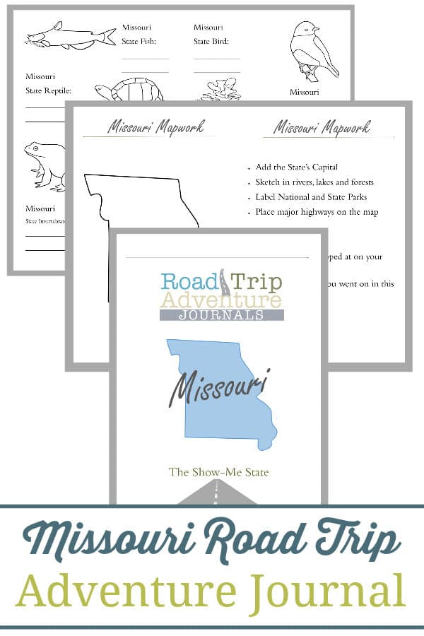 missouri road trip, missouri road trip journal, missouri road trip adventure journal
