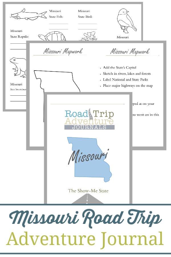 missouri road trip, missouri road trip journal, missouri road trip adventure journal