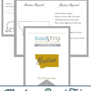 montana road trip, montana road trip journal, montana road trip adventure journal