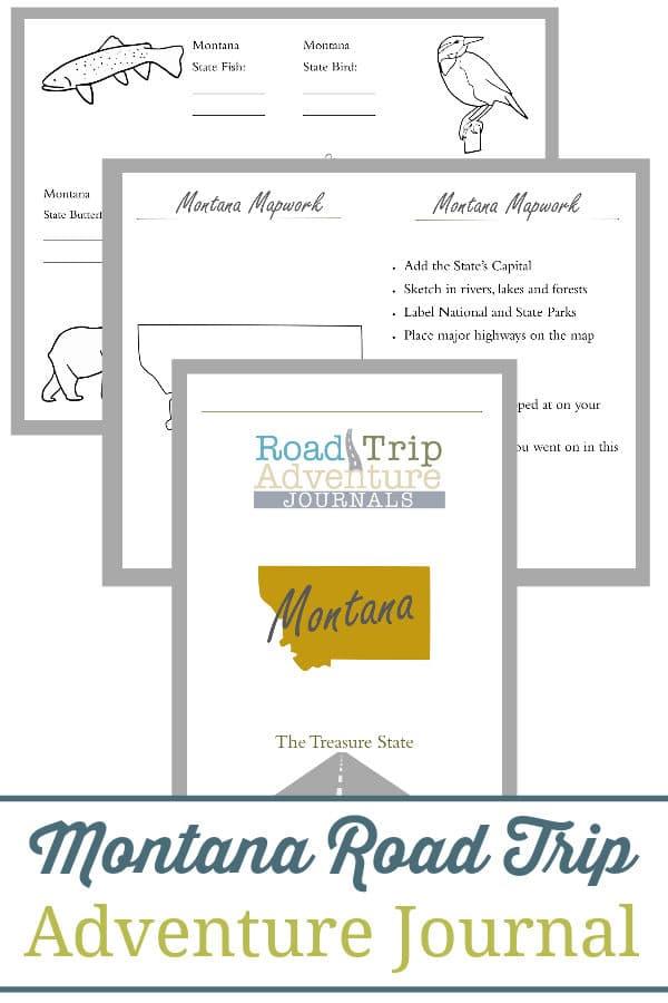 montana road trip, montana road trip journal, montana road trip adventure journal