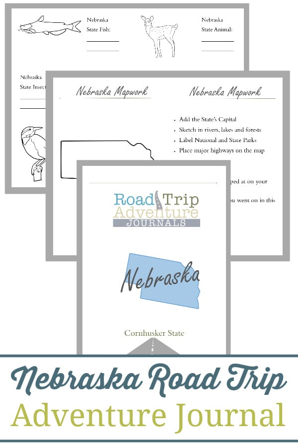 nebraska road trip, nebraska road trip journal, nebraska road trip adventure journal