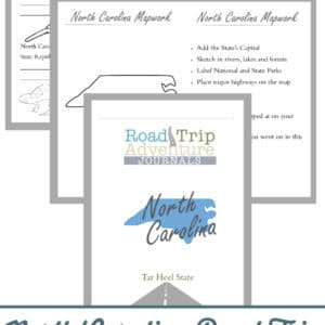 north carolina road trip, north carolina road trip journal, north carolina road trip adventure journal