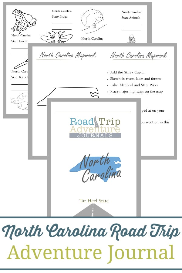 north carolina road trip, north carolina road trip journal, north carolina road trip adventure journal