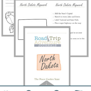 north dakota road trip, north dakota road trip journal, north dakota road trip adventure journal