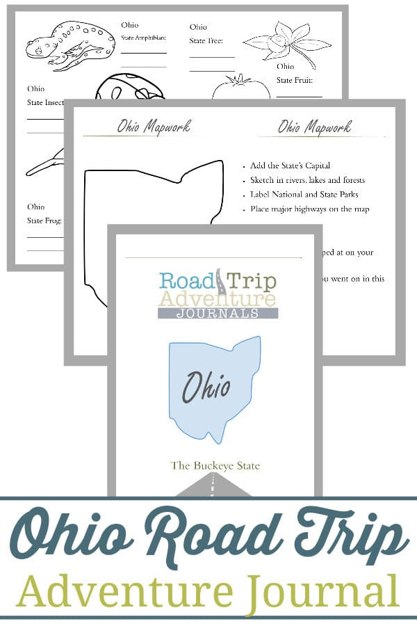 ohio road trip, ohio road trip journal, ohio road trip adventure journal