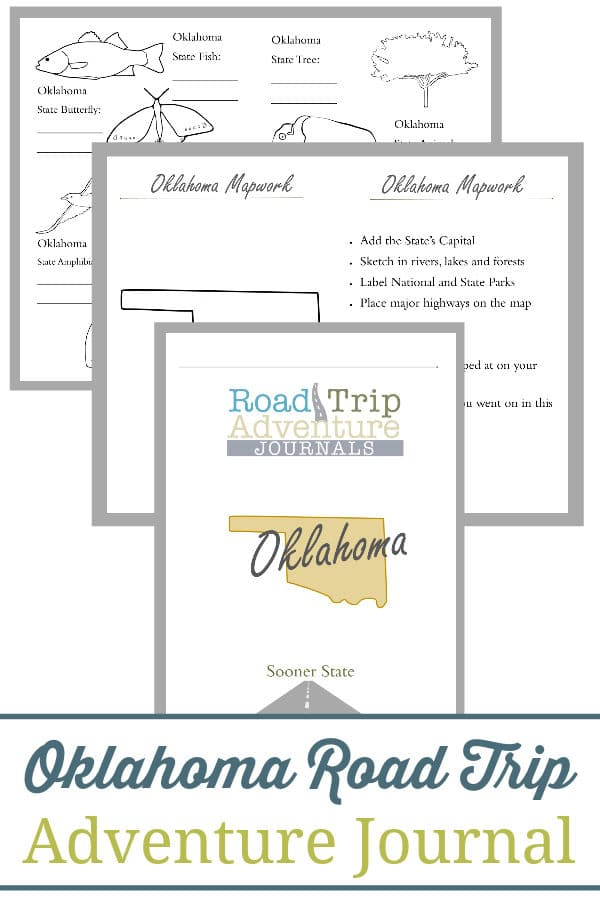 oklahoma road trip, oklahoma road trip journal, oklahoma road trip adventure journal