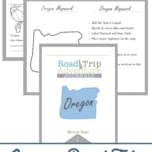 oregon road trip, oregon road trip journal, oregon road trip adventure journal
